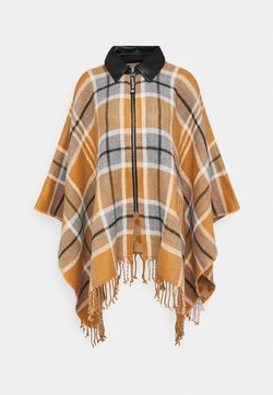 Desigual - PONCHO CHECKS - Viitta - brown