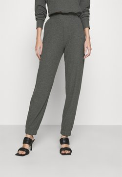 ONLY - ONLNELLA PANTS - Jogginghose - dark grey melange