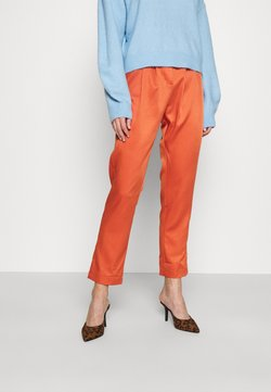 Glamorous - HIGH WAISTED TROUSERS WITH TAPERED LEGS - Spodnie materiałowe - rust