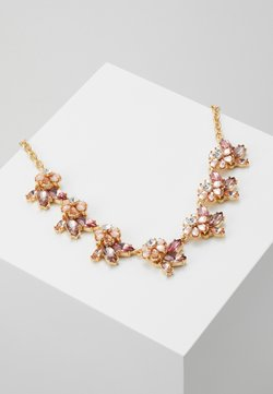 Pieces - PCMADDELINA STONE NECKLACE - Necklace - gold coloured/ash rose/champagne
