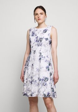 DKNY - RUFFLE EDGE FIT AND FLARE - Cocktailkjoler / festkjoler - petunia white/lilac