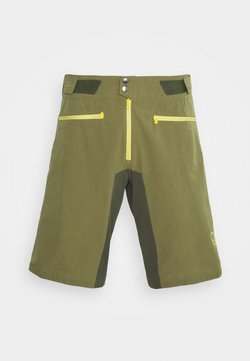 Norrøna - FJØRÅ FLEX LIGHTWEIGHT SHORTS - kurze Sporthose - olive night/lemon chrome