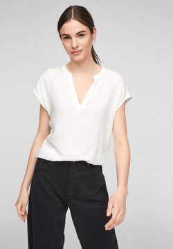 s.Oliver - KURZARM - T-Shirt print - off-white