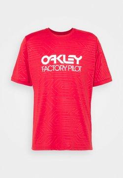 Oakley - PIPELINE TRAIL TEE - T-Shirt print - red