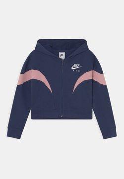Nike Sportswear - AIR  - Sweatjacke - midnight navy/pink glaze/white
