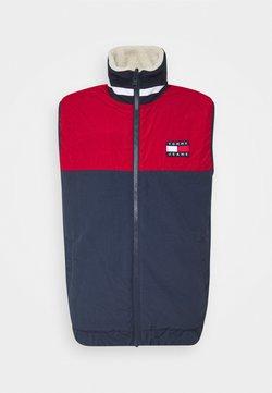 Tommy Jeans - REVERSIBLE RETRO VEST - Smanicato - light silt/wine red