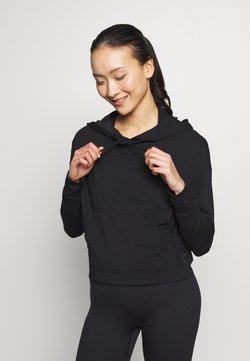 Nike Performance - YOGA HOODIE - Pitkähihainen paita - black/dark smoke grey
