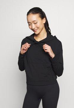 Nike Performance - YOGA HOODIE - Langarmshirt - black/dark smoke grey