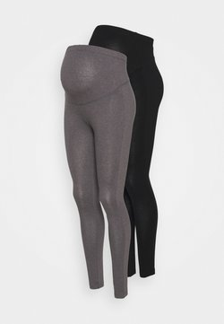 Anna Field MAMA - 2 PACK - Leggings - Hosen - grey/black