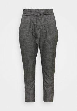 Vero Moda Curve - VMEVA LOOSE PAPERBAG AMY PANT - Stoffhose - black/grey/ white