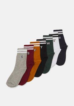 Urban Classics - COLLEGE LETTER SOCKS 7 PACK - Socken - multicolor