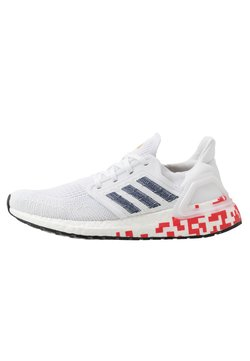 adidas Performance - ULTRABOOST 20  - Laufschuh Neutral - footwear white/collegiate navy/scarlet