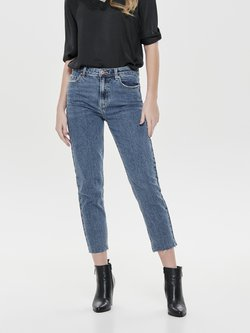 ONLY - EMILY  - Straight leg jeans - dark blue denim