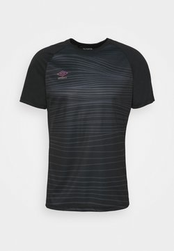 Umbro - PRO TRAINING GRAPHIC - T-shirt con stampa - black/carbon
