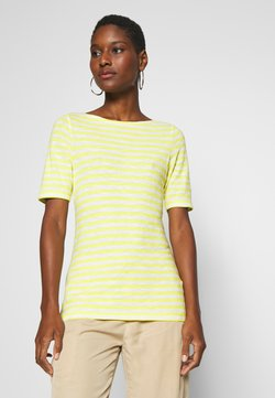 Marc O'Polo - SHORT SLEEVE BOAT NECK STRIPED - T-Shirt print - multi/sunny lime