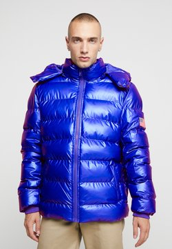 Mister Tee - NASA INSIGNIA METALLIC PUFFER JACKET - Winterjacke - blue