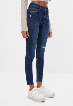 Bershka - MIT HOHEM BUND  - Jeans Skinny Fit - blue-black denim
