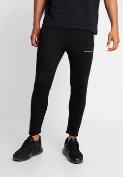 Good For Nothing - FITTED CHECK TAPING - Jogginghose - black