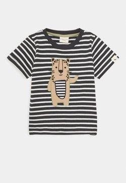 Turtledove - STRIPE LEOPARD APPLIQUE UNISEX - T-shirt imprimé - multi