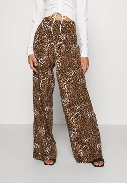 KENDALL + KYLIE - FLOW PANTS - Broek - black/beige