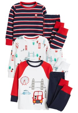 Next - 3 PACK LONDON BUS SNUGGLE PYJAMAS - Pyjama - red