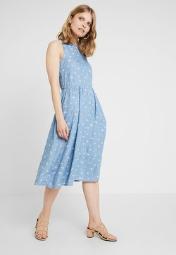 edc by Esprit - DRESS KNOT - Jeanskjole / cowboykjoler - blue light wash