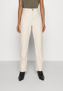 Nly by Nelly - HIGH WAIST PANTS - Trousers - beige