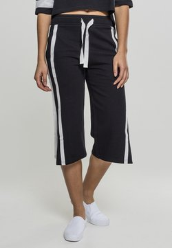 Urban Classics - LADIES TAPED TERRY CULOTTE - Jogginghose - black/white
