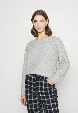 Vero Moda - VMMETTE O NECK BLOUSE - Pullover - light grey melange