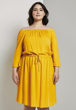 MY TRUE ME TOM TAILOR - KLEIDER & JUMPSUITS SCHULTERFREIES CARMEN- - Freizeitkleid - deep golden yellow