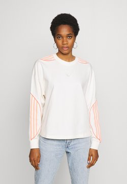 adidas Originals - FAKTEN CROPPED SWEATER LONG SLEEVE PULLOVER - Sweatshirt - chalk white