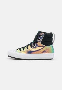 Converse - CHUCK TAYLOR ALL STAR BERKSHIRE IRIDESCENT GLITTER - Zapatillas altas - black/rainbow/white