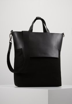 Zign - UNISEX LEATHER - Torba na zakupy - black