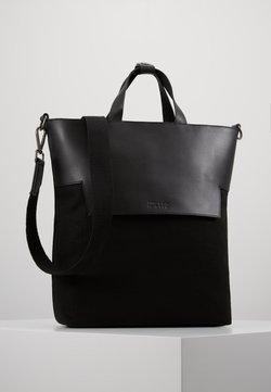Zign - UNISEX LEATHER - Shopping bag - black