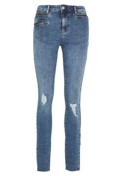 Vero Moda Tall - VMSEVEN SLIM ZIP ANK JEANS - Jeans Skinny Fit - medium blue