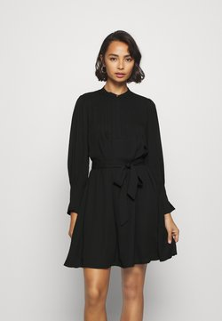 Selected Femme Petite - SLFLIVIA LS SHORT DRESS - Vestido informal - black