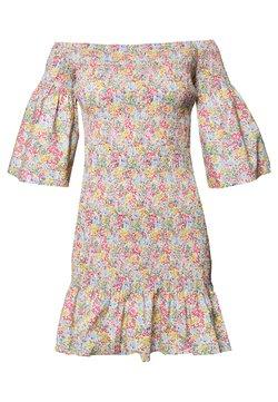 Lost Ink - SHIRRED BARDOT MINI DRESS - Vestido informal - multi