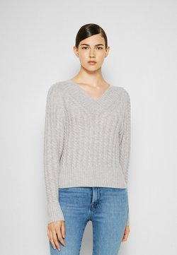 Theory - TEXTURED - Sweter - foggy