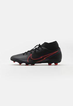 Nike Performance - MERCURIAL 7 CLUB FG/MG - Fußballschuh Nocken - black/dark smoke grey