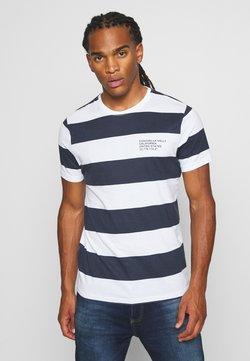 Brave Soul - CAPTION - T-shirt imprimé - optic white/rich navy