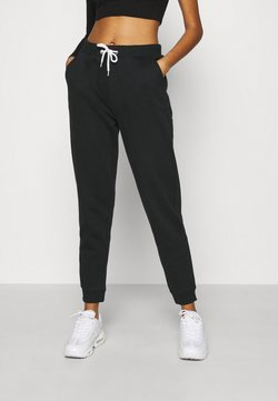 Even&Odd - REGULAR FIT JOGGER WITH CONTRAST CORD - Jogginghose - black