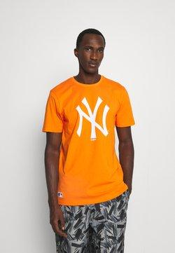New Era - MLB NEW YORK YANKEES SEASONAL TEAM LOGO TEE - Vereinsmannschaften - orange/white