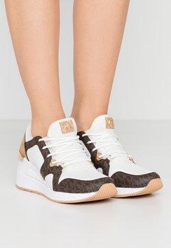 MICHAEL Michael Kors - LIV TRAINER - Sneakers - optic white/brown