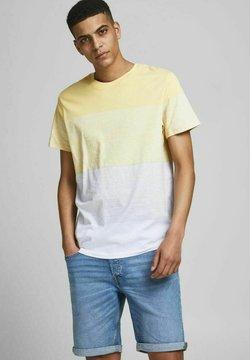Jack & Jones - JORLAGUNA STRIPE TEE CREW NECK - T-Shirt print - sahara sun