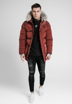 SIKSILK - STOP PUFF - Wintermantel - red