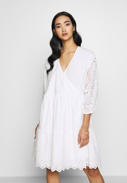YAS - YASHOLI WRAP DRESS - Korte jurk - star white