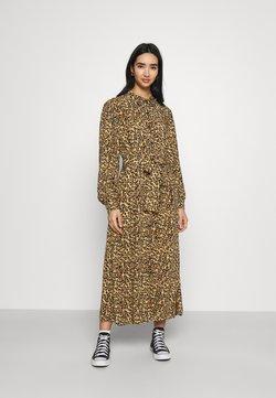 Colourful Rebel - KERA LEOPARD SHIRT DRESS BROWN - Robe chemise - brown