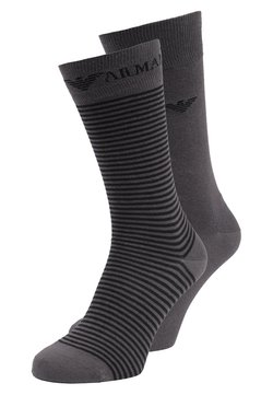 Emporio Armani - SHORT 2 PACK - Socken - anthracite gray