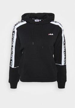 Fila Petite - TAVORA HOODY - Jersey con capucha - black/bright white