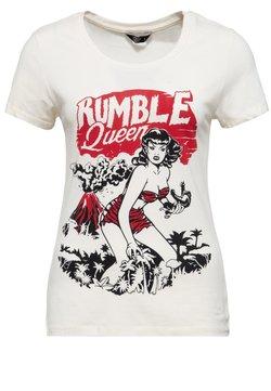 Queen Kerosin - IM VINTAGE LOOK RUMBLE QUEEN - T-shirt print - offwhite